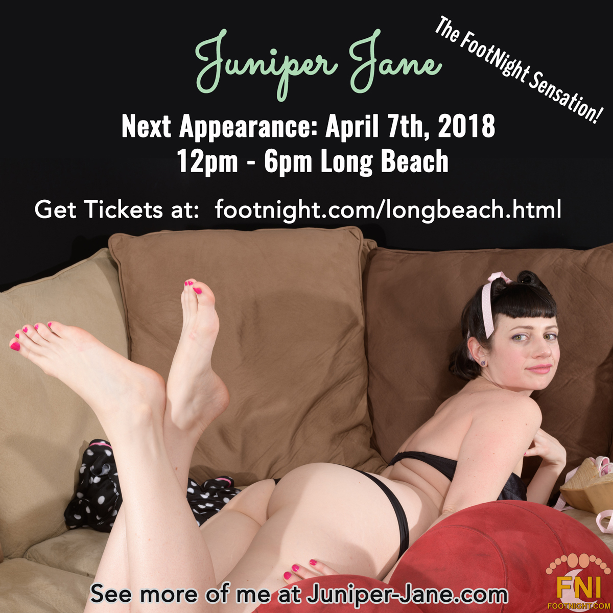 Juniper Jane at Footnight Long Beach, April 7th
