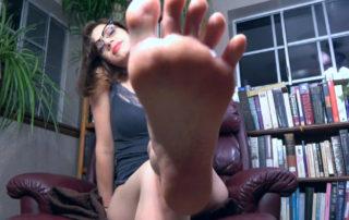 Juniper Jane's Roommate Discovers Secret Foot Fetish